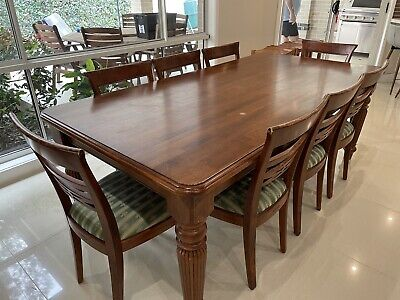 AU200 • Buy Dining Table With 8 Chairs Matching Coffee Table And 2 Lamp Tables