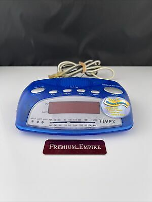 £28.77 • Buy Timex T235L Cool Translucent Blue Nature Sounds Alarm Clock AM/FM Radio Tested