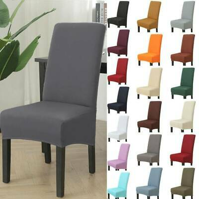 £4.99 • Buy 1/4/6pcs High Back Dining Chair Cover Stretch Slipcovers Home Decor Removable UK