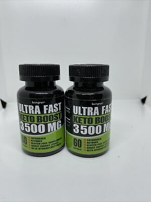 $16.99 • Buy 2 Pack Kinpur Ultra Fast Keto Boost 3500mg Dietary Supplement 120 Ct Exp 7/22