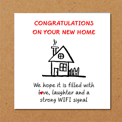 £2.99 • Buy New Home Card / New House Card - Congratulations Funny Humorous