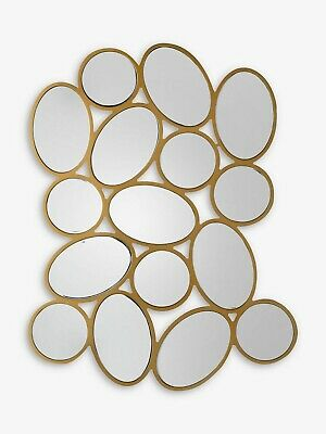 £95 • Buy Pebble Ovals And Circles Abstract Wall Mirror 96 X 74cm Gold