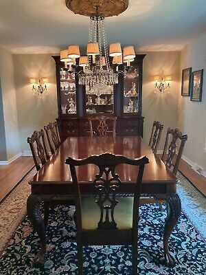 $2300 • Buy Hekman Furniture Dining Table And Chairs Set