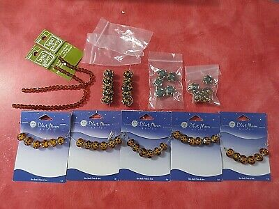 £16.54 • Buy Lot Of Blue Moon Floral And Animal Print Glass Beads New On Cards Excellent