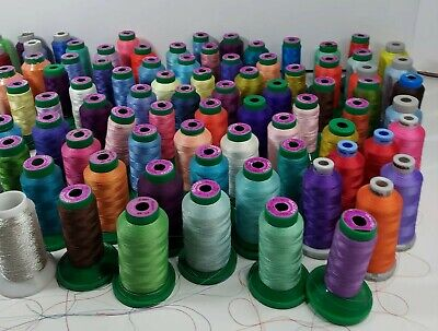 $252.50 • Buy Lot Of 86 Isacord, Madeira, & Arc Cones 1000m Spools Embroidery Machine Thread