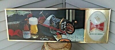 $ CDN503.54 • Buy RARE Vintage 1971 Metal Budweiser Beer Advertising Lighted BUBBLE Sign 36  X 12