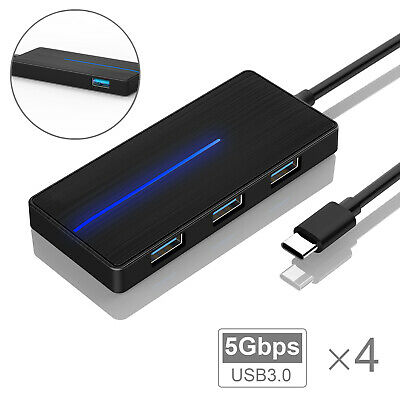 AU9.99 • Buy 4-Port USB 3.0 Type C Data USB Hub Charger Transfer Reader Adapter For PC Mac