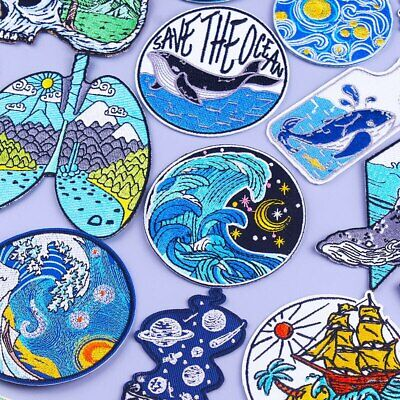 AU3.20 • Buy Yas Queen, Save The Ocean, Kanagawa Waves Iron Or Sewn On Embroidery Patches