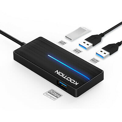 AU9.99 • Buy KOOTION Slim 4 USB 3.0 Ports Hub Type-A Adapter Cable With LED Light For Laptop