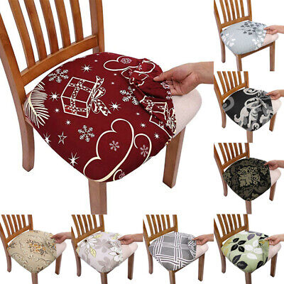 AU6.99 • Buy Stretch Dining Chair Seat Covers Removable Seat Cushion Slipcovers Protector