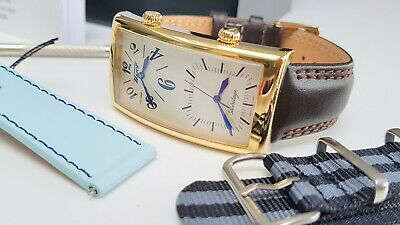 £250 • Buy Tissot Dual Time Watch Retro Brand New In Box Gold Plated Classic + Straps