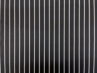 £1.99 • Buy Butchers Stripe Fabric- Cotton Drill - Uniform, Apron, Cooking Navy & White Cafe