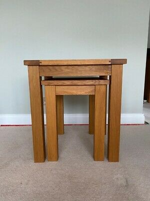£50 • Buy Nest Of Two Solid Oak Tables - Used
