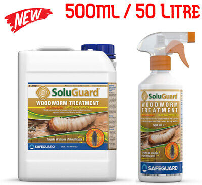 £9.96 • Buy SAFEGUARD Woodworm Treatment Soluguard High Strength SPRAY 500ml Free Delivery