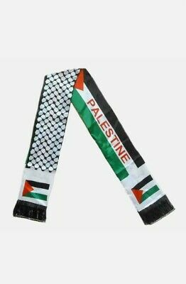 £11.88 • Buy Palestine Flag Neck Scarf, Shemagh, Jerusalem Capital Of Palestine With Al-Aqsa