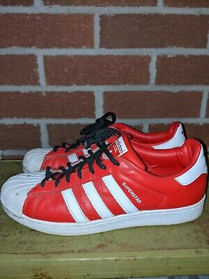 $ CDN34.99 • Buy Size 10 - Adidas Superstar Shell Toe In Red