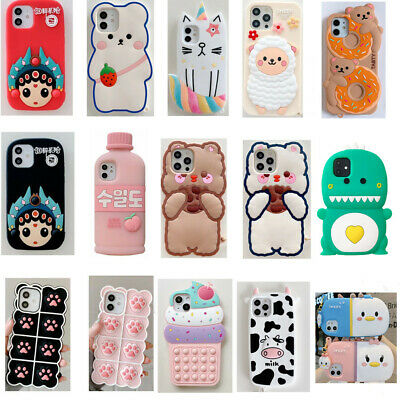 AU6.66 • Buy Cute 3D Cartoon Silicone Phone Case Cover For IPhone 12 11 Pro Max 6 7 8 Plus XR