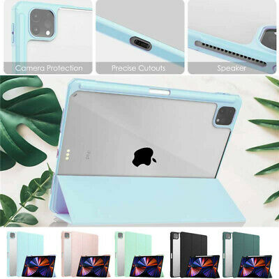 AU26.49 • Buy For IPad Pro 12.9  2021/2020/2018 Smart Clear Case Shockproof Heavy Duty Cover
