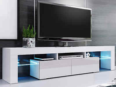 £115.99 • Buy 200cm High Gloss TV Stand Display Cabinet TV Unit For TVs Upto 75  W/ Led Lights