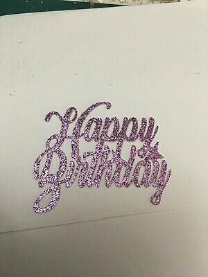 £2.99 • Buy Happy Birthday Cupcake Toppers, Glitter Card Pack Of 6 Or 12