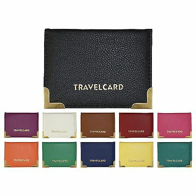 £2.79 • Buy Faux Leather Travel Card Wallet ID Railcard Bus Pass Holder (Various Colours)