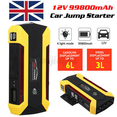 View Details 99800mAh Car Jump Starter Portable Battery Charger Booster Emergency Power Bank • 32.77£
