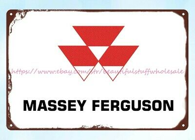 £13.07 • Buy Massey Ferguson Tractor Farm Agricultural Machinery Metal Tin Sign Best Garage