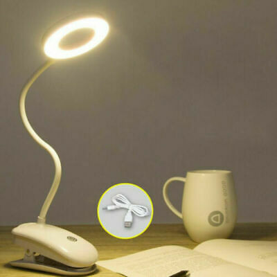 £6.59 • Buy USB LED Flexible Clamp Clip On Reading Table Desk Bed Bedside  Light Night Lamp