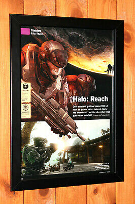 £43.88 • Buy Halo Reach Xbox 360 Xbox One Rare Old Small Promo Poster / Ad Page Framed