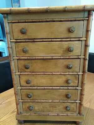 £475 • Buy  Small Victorian/Regency Faux Bamboo Collectors Chest.