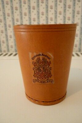 £5.99 • Buy A Nice Vintage Tooled Leather Dice Shaker Cup