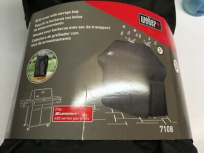 $ CDN87.13 • Buy New Weber 7108 Grill Cover  For Summit 400-Series Gas Grills With Storage Bag