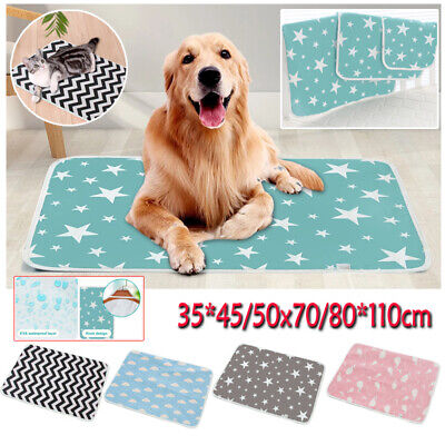 £10.55 • Buy Waterproof Pet Mattress Puppy Pee Pad Washable And Reusable Cotton Pad