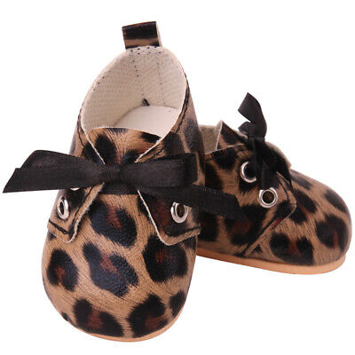 £3.64 • Buy Doll Shoes Fashion Leopard Print Shoes Toy Accessories Fit 18 Inch Girl Doll