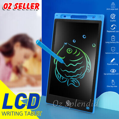 AU16.95 • Buy 8.5 / 10 / 12  LCD Writing Tablet Drawing Board Colorful Doodle Handwriting Pad