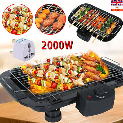 £20.99 • Buy Indoor Smokeless BBQ Portable Grill Barbecue Non Stick Electric Table Top Grill