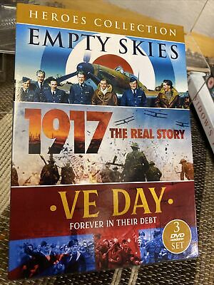 £4.99 • Buy Heroes WWII Collection [DVD] - 3 War Film Set Empty Skies 1917 VE Day Free P&P