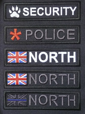 £4.99 • Buy PERONALISED ID PATCH POLICE IDENTIFIER, NAME TAPE, EMBROIDERED Ve[cro, 5 X 1