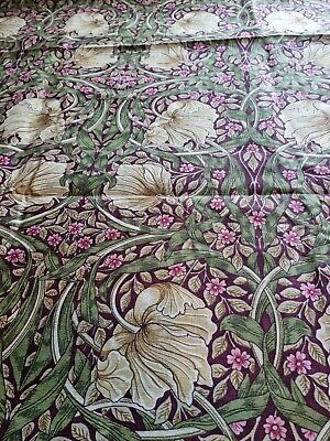 £125 • Buy Door Curtain Thermal Lined In William Morris Pimpernel Aubergine And Olive