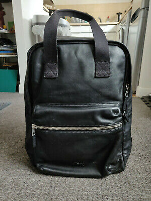 £50 • Buy Black Leather Lacoste Back Pack - Beautifully Soft Leather