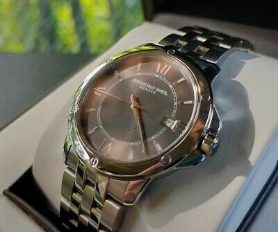 £225 • Buy Stunning Raymond Weil Stainless Steel Gents Tango Watch Grey Dial Box Book Links