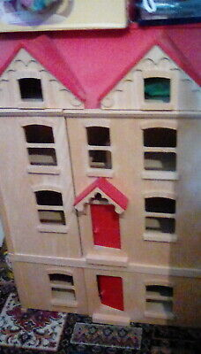 £70 • Buy Dolls House Large Pintoy John Lewis John Crane Toys ELC With Accessories