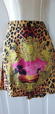 £69.50 • Buy Versace At H&m 2011 Collection Gold Leopard Tropical Print Mini Skirt, Eu 38