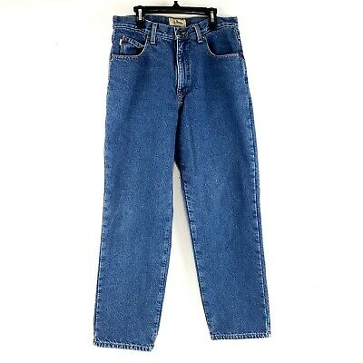 $24.99 • Buy LL Bean Mens Flannel Lined Jeans Straight Leg Stone Wash Denim Size 31x30