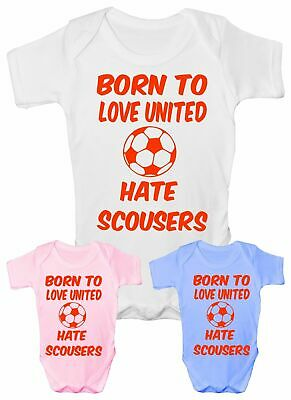 £5.95 • Buy Love Man United Hate Scousers Football Babygrow Vest Baby Clothing Funny Gift