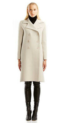 AU550 • Buy SCANLAN THEODORE $850 New Crepe Knit Coat In Trench Beige Size Small