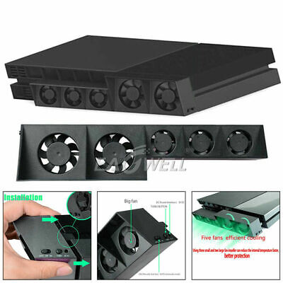 AU29.39 • Buy USB Temperature Cooling Cooler Fan For Sony Playstation 4 PS4 Pro Game Console