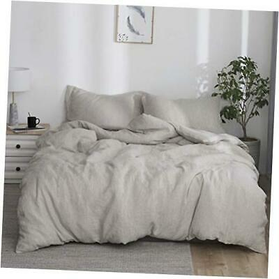 £150.74 • Buy  100% Washed Duvet Cover Set 3pcs Basic Style Natural French Flax King Linen