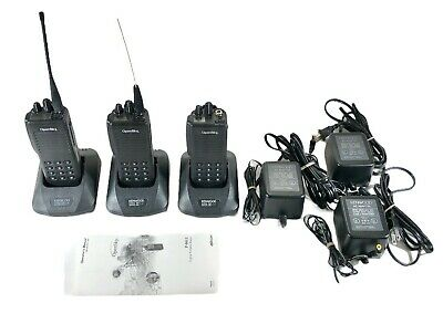 $79.99 • Buy Macom Harris P801T Two Way Radio OpenSky 800 Mhz W/Charger & Battery Lot Of 3