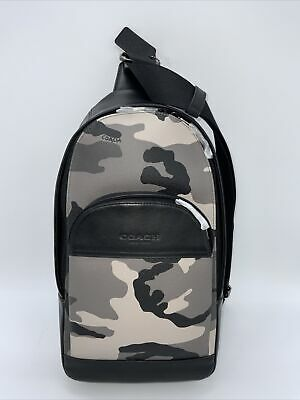 $159 • Buy COACH Houston Pack W/ Camouflage Canvas Print Sling Backpack Bag F75879 Rare